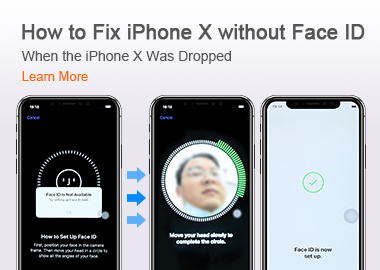 How to Fix iPhone X without Face ID When the iPhone X Was Dropped