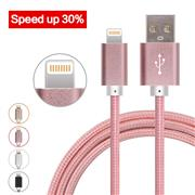 1M Lightning Aluminum Nylon Braided USB Data Cable