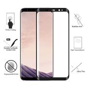 3D Curved Edge Hot Curved Full-Screen HD Front Tempered Glass Film For Galaxy S8 With Crystal Box With Package