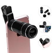 Phone Universal Clip 70 Degree 20mm Super 12X Telephoto Lens