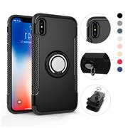 For iPhone X Injection PC TPU With Stand Detachable 2 in 1 Built-in Magnetic Protective Case
