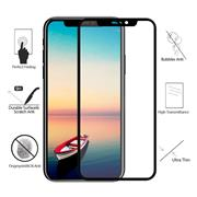 For iPhone X 3D Soft Edge Carbon Fiber Anti-broken Edge Full-Screen HD Front Tempered Glass Film With Color Carton