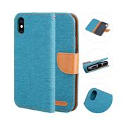 For iPhone X The Fabric Card Protective Case
