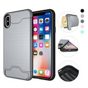 For iPhone X Simple Ripple Card Protective Case