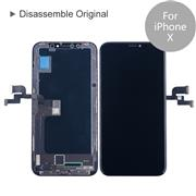 For Apple iPhone X Disassemble Original LCD Screen and Digitizer Display Assembly with Frame Repair Replacement