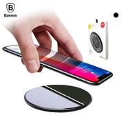 Baseus 10W Qi Wireless Charger for iPhone 8/8 Plus/X 8 Glass Fast Wireless Charging Pad with Package