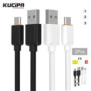 Kucipa K250 100cm USB Data Cable 2Pcs/Set for Apple Samsung HUAWEI XIAOMI Mobile Phone with Package