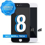 (Advanced Version)For Apple iPhone 8 NCC Incell LCD Screen and Digitizer Display Assembly with Frame Repair Replacement(In Cell)