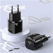 USAMS US-CC124 T36 20W Single Port GaN Mini Charger EU with Package